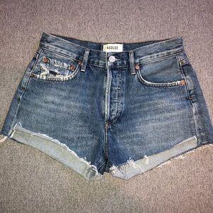 AGOLDE Parker jean shorts